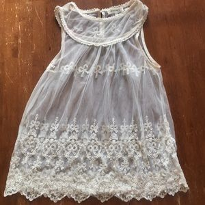 Delicate lace tank top